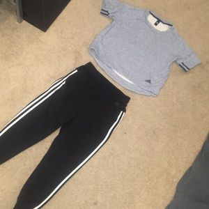 ADIDAS PANTS joggers & sweater shirt top